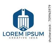 modern real estate logo  ... | Shutterstock .eps vector #709965979