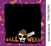 happy halloween template design ... | Shutterstock .eps vector #709970095