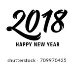 2018 happy new year lettering | Shutterstock .eps vector #709970425