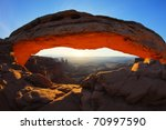 sunrise at mesa arch in... | Shutterstock . vector #70997590