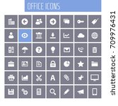 big ui  ux and office icon set | Shutterstock .eps vector #709976431