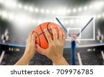man basketball player preparing ... | Shutterstock . vector #709976785