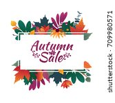 design banner with autumn sale... | Shutterstock .eps vector #709980571
