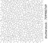 geometric black and white... | Shutterstock .eps vector #709980769