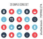 set of 20 editable restaurant...