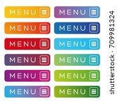 menu web button icon set
