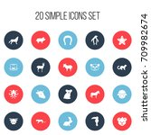 set of 20 editable zoo icons....