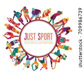 color sport background.... | Shutterstock .eps vector #709986739