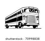 bus   retro ad art illustration
