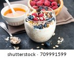 healthy breakfast   natural... | Shutterstock . vector #709991599