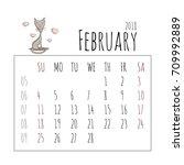 Cartoon Cats Calendar 2018....