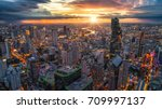 aerial view of bangkok... | Shutterstock . vector #709997137