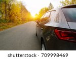 the car on the nature near... | Shutterstock . vector #709998469