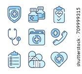 health care icon set | Shutterstock .eps vector #709999315