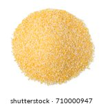 corn flour isolated on a white...   Shutterstock . vector #710000947