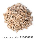 pile of oatmeal isolated on...   Shutterstock . vector #710000959