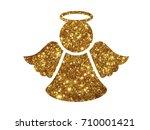 the vector golden glitter... | Shutterstock .eps vector #710001421