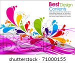 colorful design with splash and ... | Shutterstock .eps vector #71000155