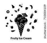 ice cream silhouette graphic... | Shutterstock .eps vector #710004109
