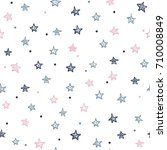 star seamless pattern | Shutterstock .eps vector #710008849