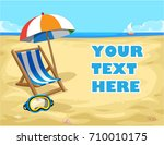 vacation and travel... | Shutterstock .eps vector #710010175
