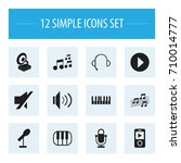 set of 12 editable song icons....