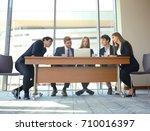 startup business team on... | Shutterstock . vector #710016397