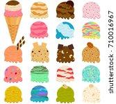 cute vector illustration set of ...   Shutterstock .eps vector #710016967