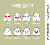 ghost emoji collection set... | Shutterstock .eps vector #710019415