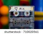 love songs mixed tape | Shutterstock . vector #710020561