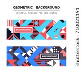 simple geometric backgrounds... | Shutterstock .eps vector #710021191