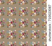 new color seamless pattern with ... | Shutterstock .eps vector #710023087