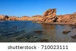 cala pregonda   minorca ... | Shutterstock . vector #710023111