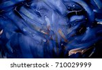 blue daub with elements of... | Shutterstock . vector #710029999