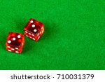 Craps dice showing double three - stock photo