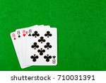 4 of a kind playing cards Eights - stock photo