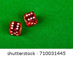 Craps dice showing double six - stock photo
