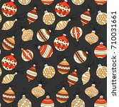 seamless vector pattern with... | Shutterstock .eps vector #710031661