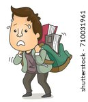 illustration featuring an adult ... | Shutterstock .eps vector #710031961