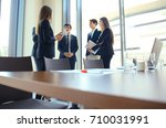 team young professionals having ... | Shutterstock . vector #710031991
