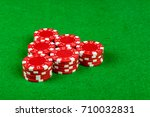 Betting chips on a card table - stock photo
