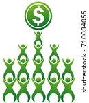 teamwork making money   Shutterstock .eps vector #710034055