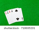 4 of a kind playing cards Twos - stock photo