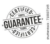 guarantee certified | Shutterstock .eps vector #710037145