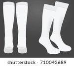 white sport socks. vector... | Shutterstock .eps vector #710042689