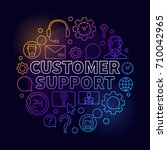 colorful customer support round ... | Shutterstock .eps vector #710042965
