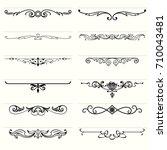 horizontal decorative elements  ... | Shutterstock .eps vector #710043481