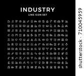 set line icons of industry | Shutterstock .eps vector #710045959