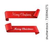 christmas banners. vector... | Shutterstock .eps vector #710046271