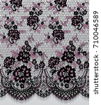 seamless vector pink and black... | Shutterstock .eps vector #710046589